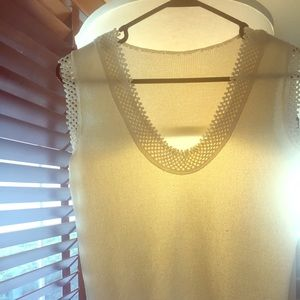 Tops - 70's Knitted Cream Top